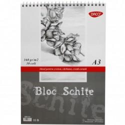 BLOC A3 SCHITE 160GR  30 FILE DACO BD316