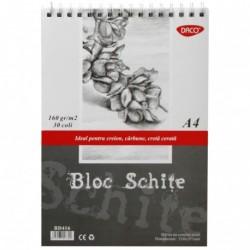 BLOC A4 SCHITE 160GR  30 FILE DACO BD416