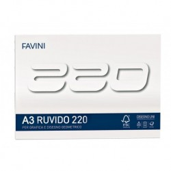 BLOC DESEN A3 20 FILE 220G/MP FAVINI 220