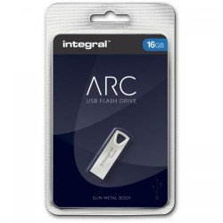 Memorie flash Integral USB 16GB ARC, fara capac, pentru purtare in breloc
