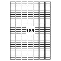 Etichete albe autoadezive 189/A4, 25 x 10 mm, 100 coli/top, D.Rect 227025