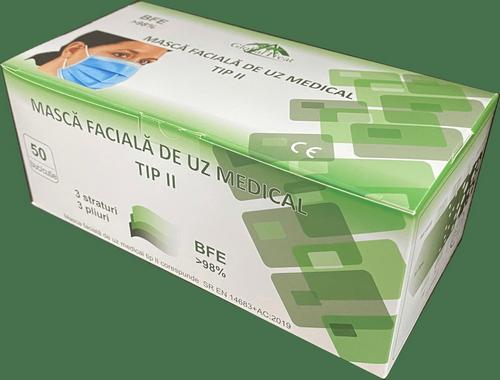 Masca Medicala Tip 2 – Albastra (Cutie Cu 50buc.)