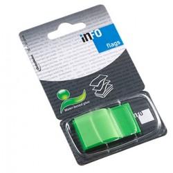 INDEX ADEZIV PLASTIC 25*43MM 50 FILE VERDE INFO NOTES