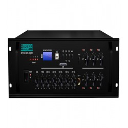 Amplificator 250W cu mixer DSPPA MP610U, 6 zone, USB/SD/Tuner, 4Mic si 3AUX, 100V & 4-16 Ohmi