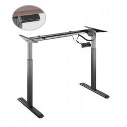 Cadru birou electric Sit-Stand, Blackmount S03-22D, Negru