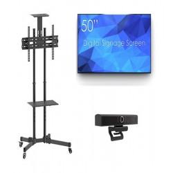 Sistem videoconferinta cu display SWEDX SDS50K8-01, Stand T28, camera SEEUP