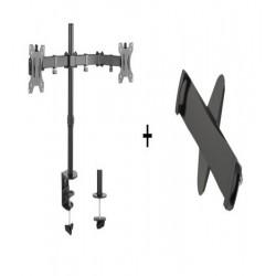 Suport pentru tabet format din suport 2 monitoare Blackmount LDT12-C24N si adaptor VESA Blackmount PAD29-01