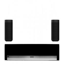 Pachet Sonos cu Soundbar Playbar si Boxe ONE (GEN2), Negru