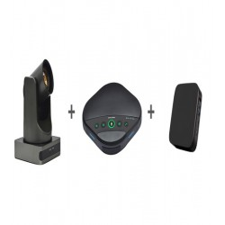 Sistem videoconferinta cu camera EACOME BC400, speakerphone EACOME SV16B si mini PC SWEDX  J4105