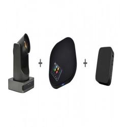 Sistem videoconferinta cu camera EACOME BC400, speakerphone EACOME SV18 si mini PC SWEDX  J4105