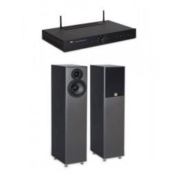 Pachet cu Amplificator 2x75W cu streamer Wi-Fi TIBO SIA75  si boxe de podea TIBO Legacy 5+