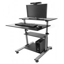 Pachet cu Stand mobil (Workstation) ajustabil pentru calculator si Webcam Seeup pentru sali de clasa