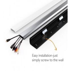 Plinta mascare cabluri Aluminiu Blackmount CC09-110, 1100 x 60 x 20mm (WxLxD), Negru