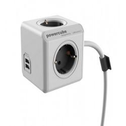 Prelungitor 4 cai + 2 porturi USB, Powercube Extended USB, 1.5m, 250V, 16A, max.3680W