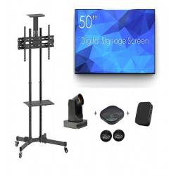 Sistem videoconferinta cu SDS50K8-01, Stand T28, camera BC 400, speakerphone SV16B + 2 extensii microfon , mini PC J4105