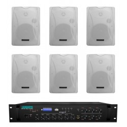 Pachet Sonorizare 120W de perete cu 6 zone, FM+USB+SD, DSPPA MP310U+6xDSP8062