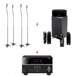 Sistem Audio Home cinema cu Receiver YAMAHA HTR2071, Sistem Boxe 5.1 Polk Audio TL600 si Suporti boxe SS01