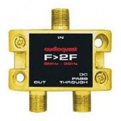 Splitter RF Audioquest F to 2F 75i© Splitter, 1 IN - 2 OUT