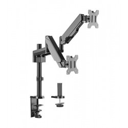 Suport 2 monitoare Gas Spring Dual Arm Blackmount MNT16-2, 17