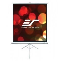 Ecran de proiectie trepied EliteScreens T136NWS1  marime vizibila 240cm x 240cm, rama alba