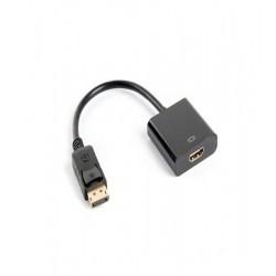 Adaptor DisplayPort tata la HDMI mama, 10cm, AD-0009-BK, Lanberg