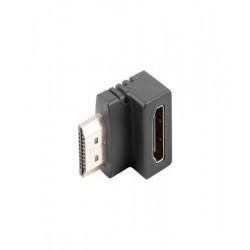 Adaptor HDMI tata la HDMI mama cotit 90 grade, AD-0033-BK, Lanberg