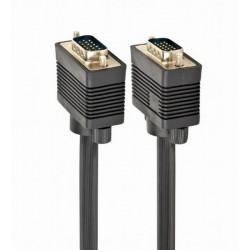 Cablu premium VGA 20m, dublu ecranat,CC-PPVGA-20M-B, Gembird