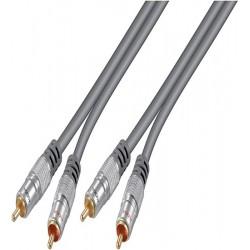 Cablu audio 2 x RCA, Hometheather, 1.5m, 52509