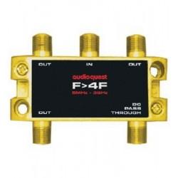 Splitter RF Audioquest F to 4F 75i© Splitter, 1 IN - 4 OUT