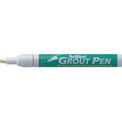Marker ARTLINE 419 Grout Pen, pentru rosturi, corp metalic, varf tesit, 2.0-4.0mm - crem
