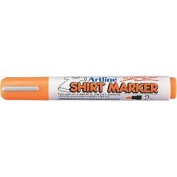 T-Shirt marker ARTLINE, corp plastic, varf rotund 2.0mm - portocaliu fluorescent