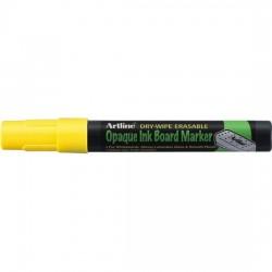 Marker cu cerneala opaca, ARTLINE, pentru table de scris, varf 2.0mm - galben fluorescent