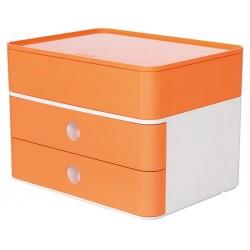 Suport cu 2 sertare + cutie ustensile HAN Allison Smart Box Plus - orange piersica