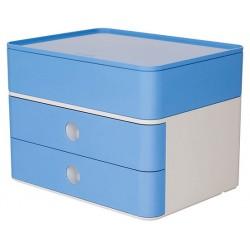 Suport cu 2 sertare + cutie ustensile HAN Allison Smart Box Plus - bleu sky