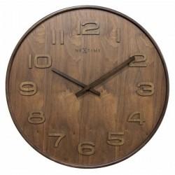 Ceas de perete, D-35 cm, cifre arabe, lemn, NeXtime -