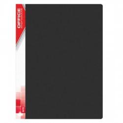 Dosar de prezentare cu 30 folii, A4, coperta rigida PP, Office Products - negru