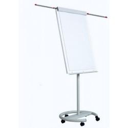 Flipchart magnetic, 100 x 70 cm, cu brate laterale, cu rotile, Optima Vision