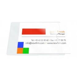 Buzunar autoadeziv pt carti de vizita, acces lateral, 60 x 95mm, 10/set, PROBECO