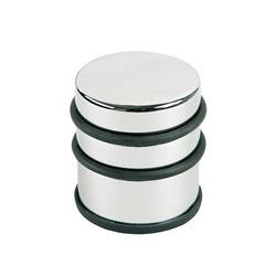 Opritor metalic inalt, pentru usa, rotund, cu inel de cauciuc, ALCO Design - argintiu