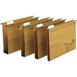 Dosar suspendabil cu burduf 30mm , carton 320g/mp, bagheta metalica, ELBA Vertic - kraft