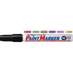 Marker cu vopsea ARTLINE 400XF, corp metalic, varf rotund 2.3mm - negru