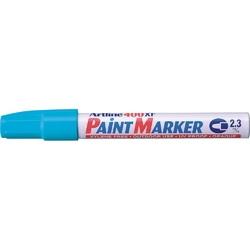 Marker cu vopsea ARTLINE 400XF, corp metalic, varf rotund 2.3mm - bleu