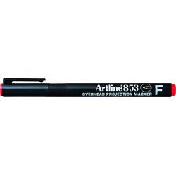 OHP Permanent marker ARTLINE 853, varf fin - 0.5mm - rosu