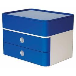 Suport cu 2 sertare + cutie ustensile HAN Allison Smart Box Plus - albastru royal