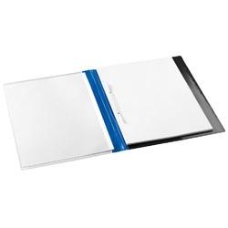 Dosar plastic cu alonja, buzunar de prezentare pe coperta, JALEMA Report file - albastru