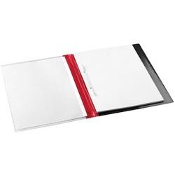Dosar plastic cu alonja, buzunar de prezentare pe coperta, JALEMA Report file - rosu