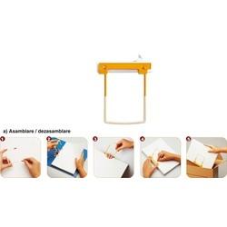 Alonja arhivare de mare capacitate, 100/cutie, JALEMA Clip - culoare galbena