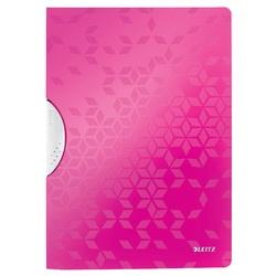 Dosar cu clip LEITZ WOW ColorClip, PP, A4, 30 coli, roz