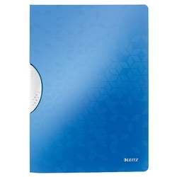 Dosar cu clip LEITZ WOW ColorClip, PP, A4, 30 coli, albastru