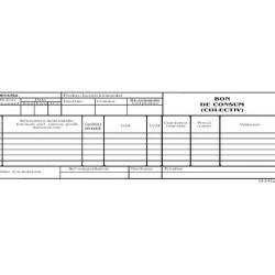 Bon consum colectiv, format 1/2 A4, 100 coli/carnet